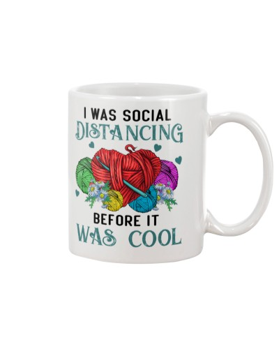 I Was Social Distancing Crochet