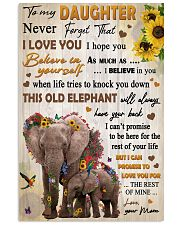 To Daughter Never Forget That I Love You Elephant 11x17 Poster front
