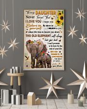 To Daughter Never Forget That I Love You Elephant 11x17 Poster lifestyle-holiday-poster-1