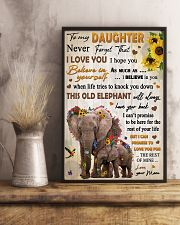 To Daughter Never Forget That I Love You Elephant 11x17 Poster lifestyle-poster-3