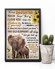 To Daughter Never Forget That I Love You Elephant 11x17 Poster lifestyle-poster-8