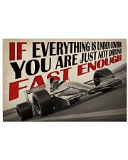 Not Fast Enough Car Racing 24x16 Poster front