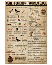 Waterfowl Hunting Knowledge 11x17 Poster front