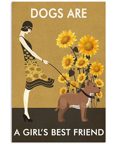 Sunflower Vintage Friend American Pit Bull Terrier
