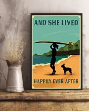 Vintage She Lived Happily Surfing Boston Terrier 11x17 Poster lifestyle-poster-3