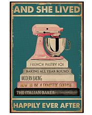 And She Lived Happily Ever After Baking 16x24 Poster front