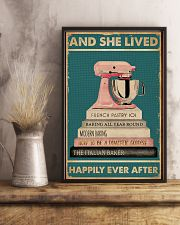 And She Lived Happily Ever After Baking 16x24 Poster lifestyle-poster-3