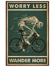 Retro Green Worry Less Cycling Skeleton 11x17 Poster front