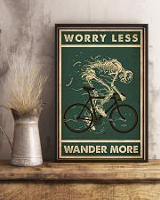 Retro Green Worry Less Cycling Skeleton 11x17 Poster lifestyle-poster-3