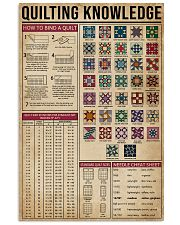 Knowledge Quilting 16x24 Poster front