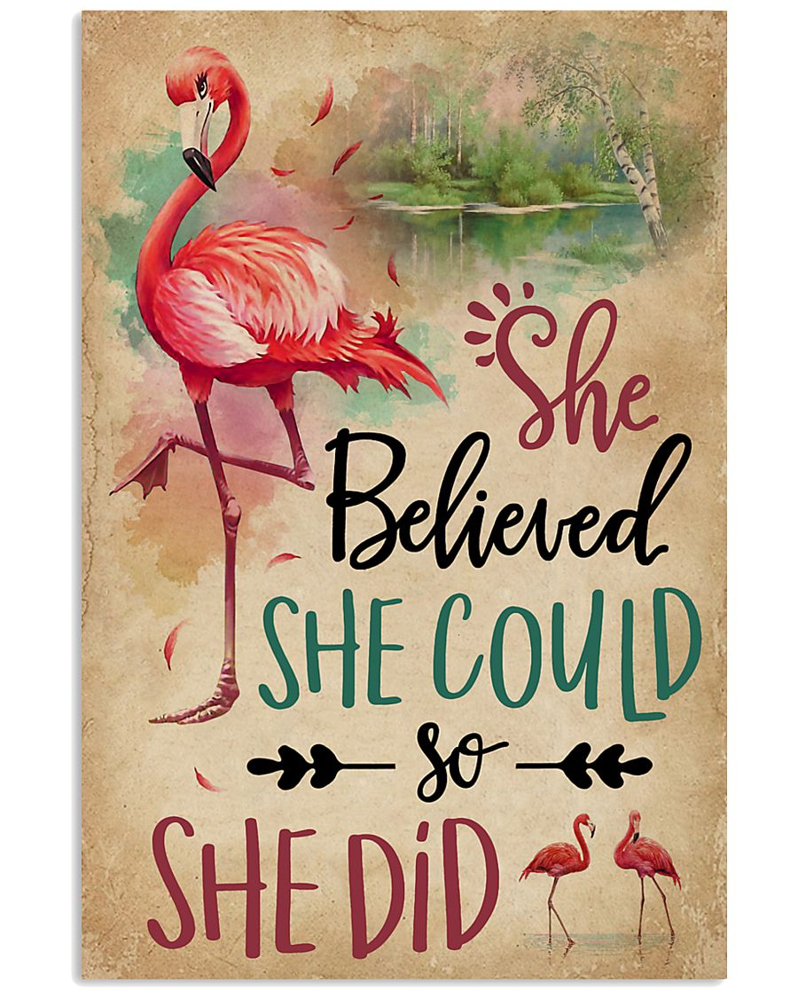 She Believe She Could Flamingo 11x17 Poster