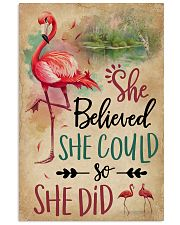 She Believe She Could Flamingo 11x17 Poster front