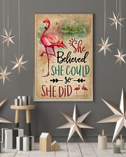 She Believe She Could Flamingo 11x17 Poster lifestyle-holiday-poster-1