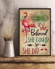 She Believe She Could Flamingo 11x17 Poster lifestyle-poster-3