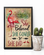 She Believe She Could Flamingo 11x17 Poster lifestyle-poster-8