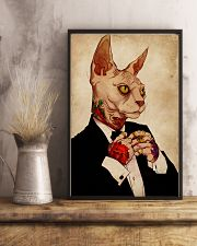 Tattoo Human Drawing Sphynx Cat 11x17 Poster lifestyle-poster-3