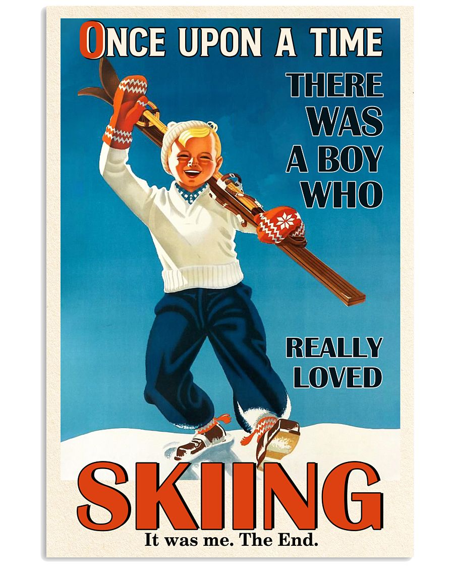 Once Upon A Time Skiing Boy 16x24 Poster