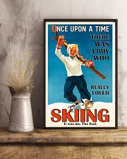 Once Upon A Time Skiing Boy 16x24 Poster lifestyle-poster-3