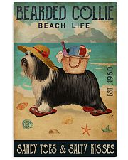 Beach Life Sandy Toes Bearded Collie 11x17 Poster front