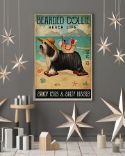 Beach Life Sandy Toes Bearded Collie 11x17 Poster lifestyle-holiday-poster-1