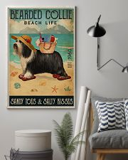 Beach Life Sandy Toes Bearded Collie 11x17 Poster lifestyle-poster-1