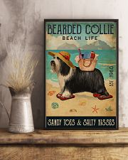 Beach Life Sandy Toes Bearded Collie 11x17 Poster lifestyle-poster-3