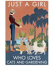 Vintage Just A Girl Loves Gardening And Cat 11x17 Poster front