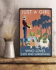 Vintage Just A Girl Loves Gardening And Cat 11x17 Poster lifestyle-poster-3