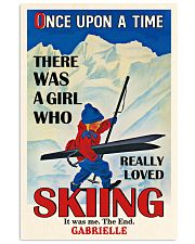 Personalized Skiing Girl Once Upon A Time 16x24 Poster front