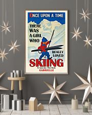 Personalized Skiing Girl Once Upon A Time 16x24 Poster lifestyle-holiday-poster-1