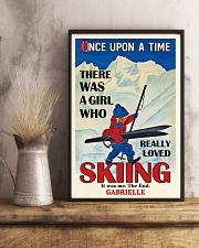 Personalized Skiing Girl Once Upon A Time 16x24 Poster lifestyle-poster-3