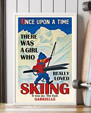 Personalized Skiing Girl Once Upon A Time 16x24 Poster lifestyle-poster-4