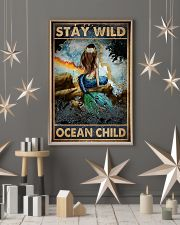 Blue Earth Stay Wild Ocean Child Mermaid 16x24 Poster lifestyle-holiday-poster-1