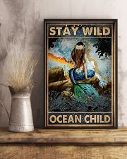 Blue Earth Stay Wild Ocean Child Mermaid 16x24 Poster lifestyle-poster-3