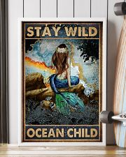 Blue Earth Stay Wild Ocean Child Mermaid 16x24 Poster lifestyle-poster-4