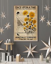 Dictionary Sunflower Girl Upon Airedale Terrier 11x17 Poster lifestyle-holiday-poster-1