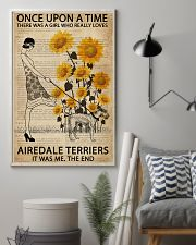 Dictionary Sunflower Girl Upon Airedale Terrier 11x17 Poster lifestyle-poster-1