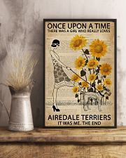 Dictionary Sunflower Girl Upon Airedale Terrier 11x17 Poster lifestyle-poster-3