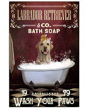 Red Bath Soap Labrador Retriever 11x17 Poster front