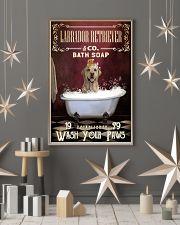 Red Bath Soap Labrador Retriever 11x17 Poster lifestyle-holiday-poster-1