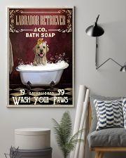 Red Bath Soap Labrador Retriever 11x17 Poster lifestyle-poster-1