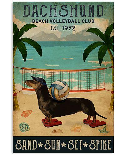 Vintage Beach Volleyball Club Dachshund