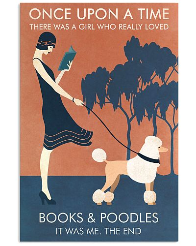 Vintage Girl Once Upon Reading Poodle