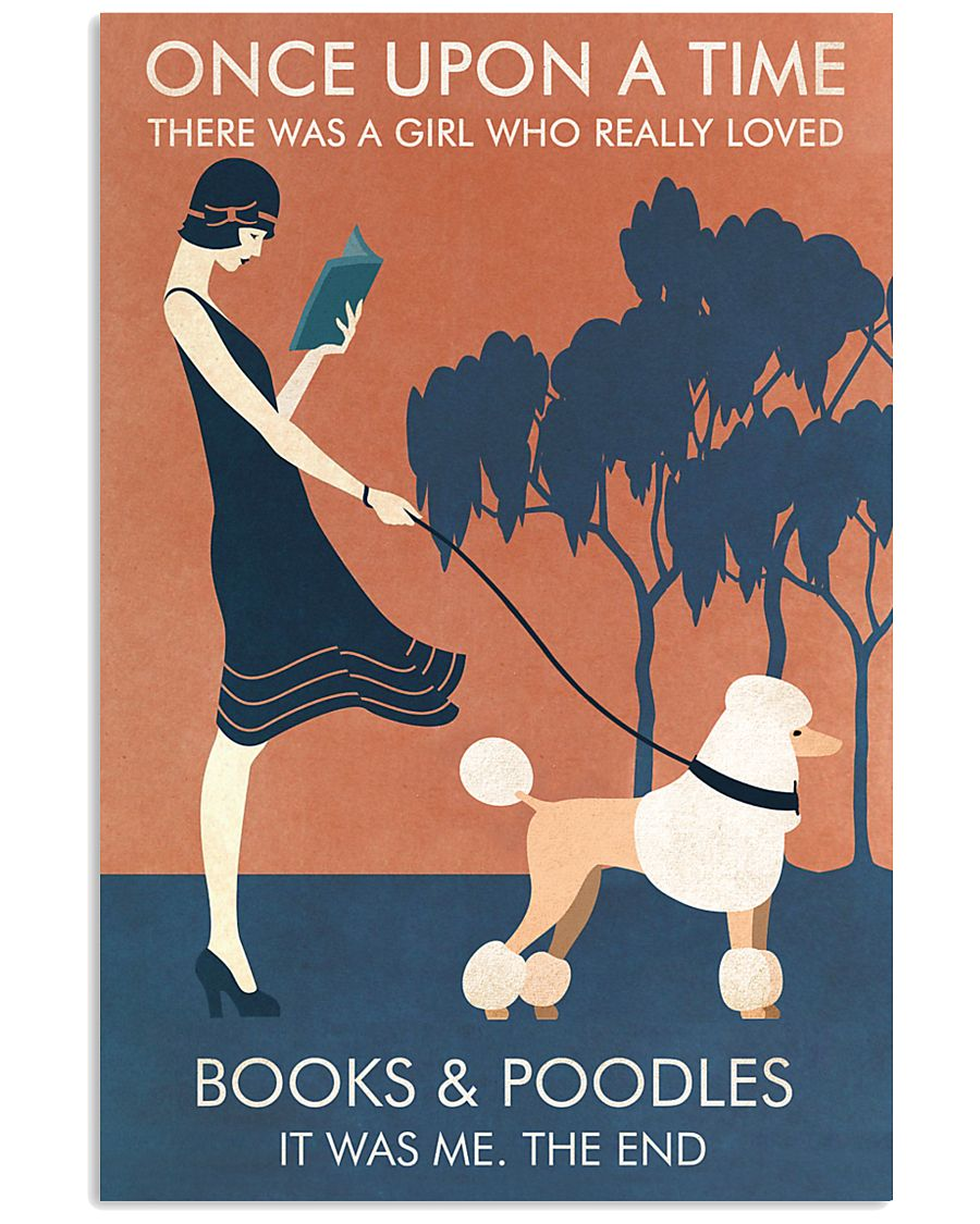 Vintage Girl Once Upon Reading Poodle 11x17 Poster