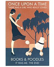 Vintage Girl Once Upon Reading Poodle 11x17 Poster front