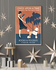 Vintage Girl Once Upon Reading Poodle 11x17 Poster lifestyle-holiday-poster-1