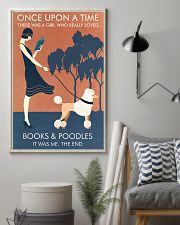 Vintage Girl Once Upon Reading Poodle 11x17 Poster lifestyle-poster-1