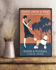 Vintage Girl Once Upon Reading Poodle 11x17 Poster lifestyle-poster-3