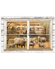 Window The Gate Open Sheep 24x16 Poster front