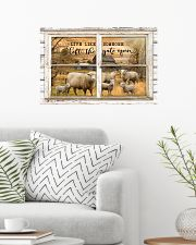 Window The Gate Open Sheep 24x16 Poster poster-landscape-24x16-lifestyle-01